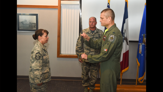 Page becomes 132d Wing 1st Sgt.