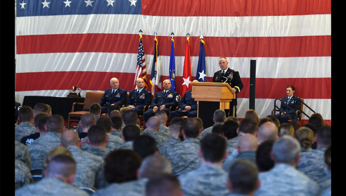 Maj. Gen. Orr address 132nd Wing
